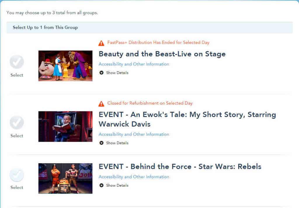 Star Wars Weekends Fastpass+ for Shows l kennythepirate.com