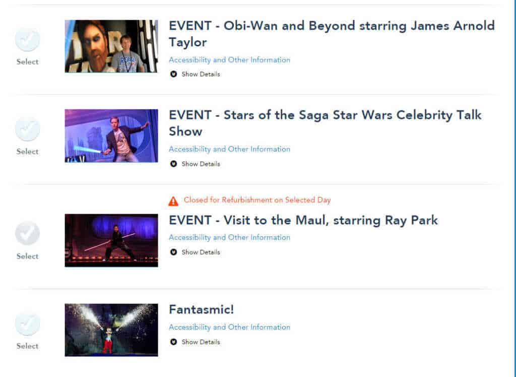 Star Wars Weekends Fastpass+ for Shows 2 l kennythepirate.com