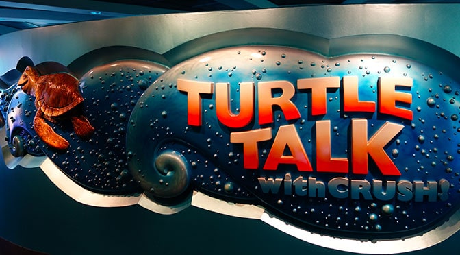 Turtle Talk with Crush at Epcot in Walt Disney World