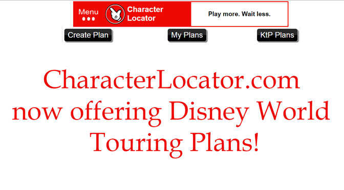 NEW Epcot and Animal Kingdom Touring Plans added to Character Locator!