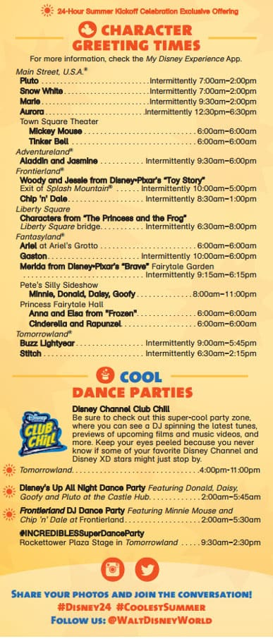 Magic Kingdom 24 hour party coolest summer ever times guide 3