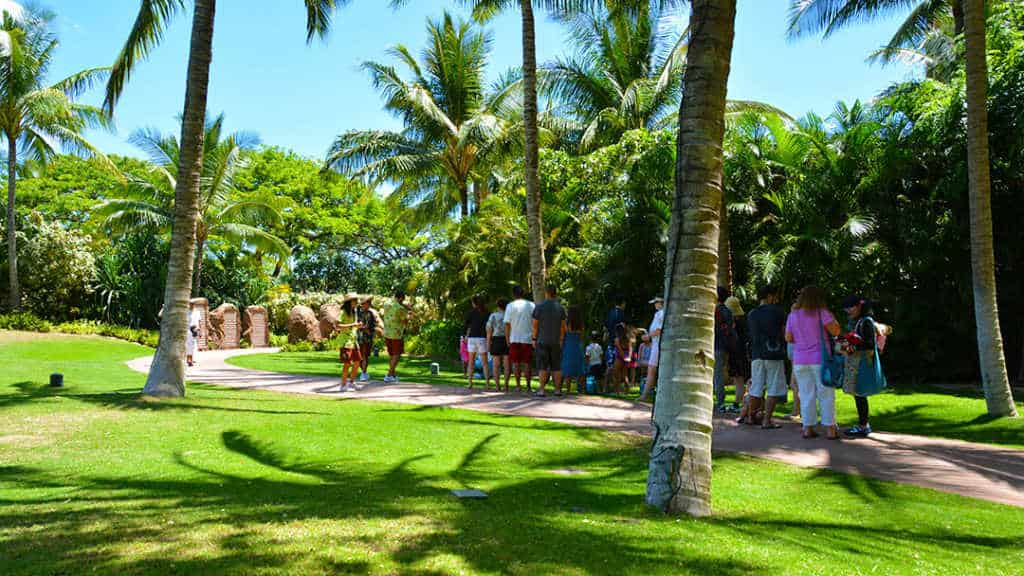 Halawai Lawn at Disney's Aulani in Oahu Hawaii