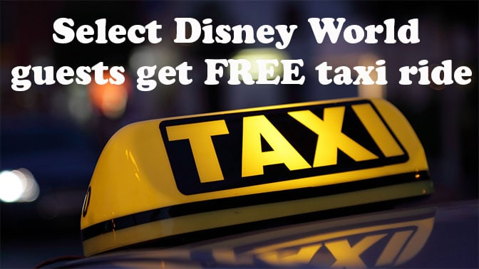 Disney World free taxi ride test