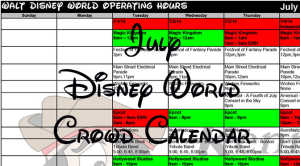 July Disney World Crowd Calendar Park Hours Entertainment Fastpass and Dining Booking Dates KennythePirate