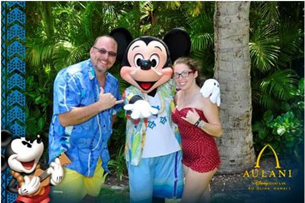 Mickey Mouse at Aulani Disney Photopass