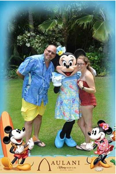Minnie Mouse at Aulani Disney Photopass 2