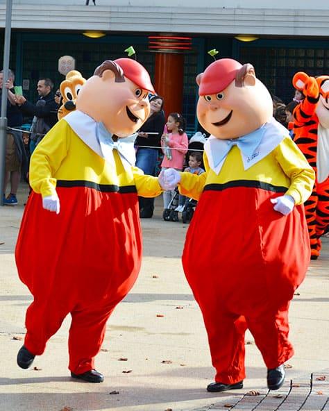 Stars n Cars Meet and Greet Disneyland Paris Disney Studios Paris Tweedle Dee and Tweedle Dum