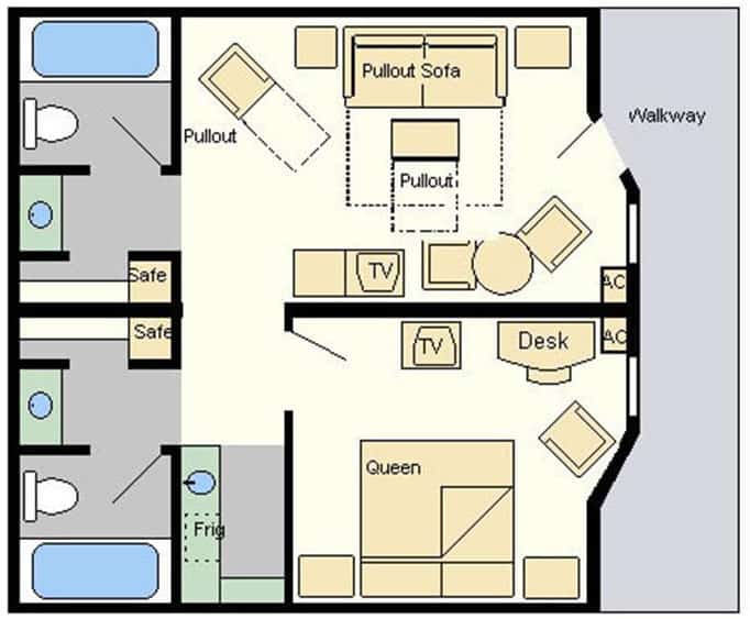All star music suites room layout Room layout