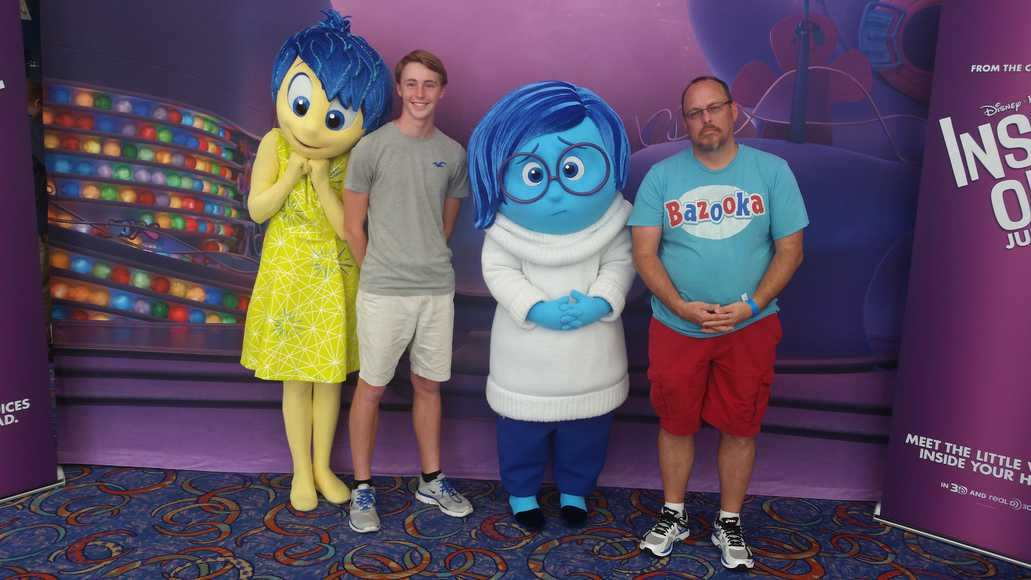 Will joy and sadness from pixars inside out offer meet and greets inside out characters sadness and joy at disney parks blog meet kristyandbryce Gallery