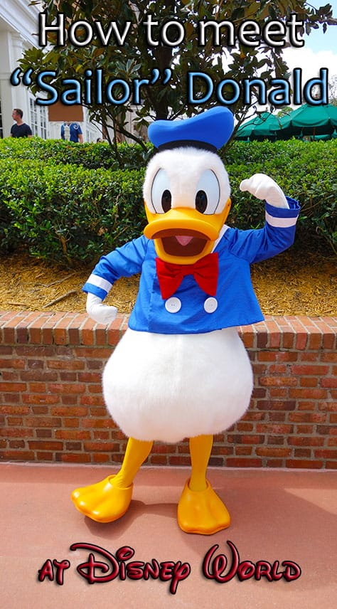 How to meet Sailor Donald Duck at Waltt Disney World KennythePirate