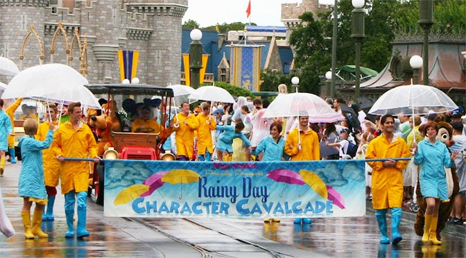 Which attractions are open during a thunderstorm at Disney World and which park is best?