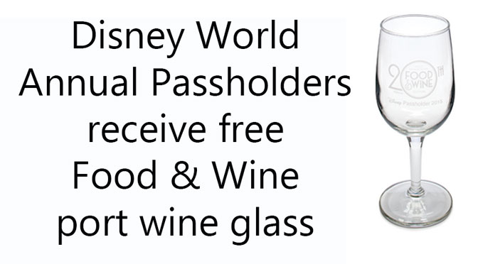Annual Passholders receive free Epcot Food and Wine Festival Port Wine Glass