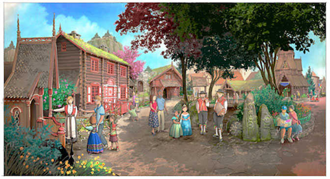 Frozen Ever After and Royal Summerhus details and concept art