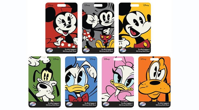 New Walt Disney World Travel Luggage Tags to match Magic Band colors