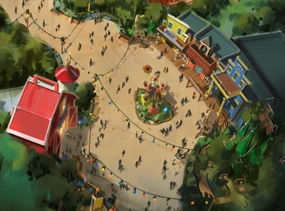 Toy Story Land Als Toy Barn and Woody's Round Up area