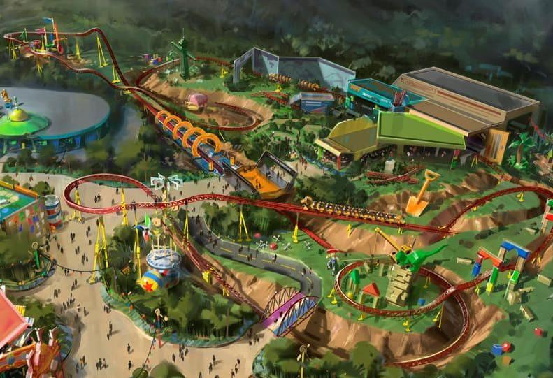 Toy Story Land Slinky Dog Roller Coaster Ride