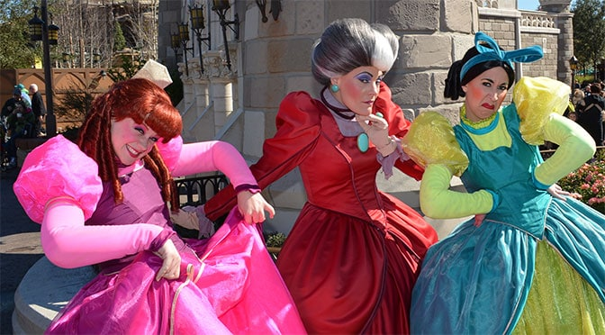 Tremaine Family and Fairy Godmother changing locations at the Magic Kingdom