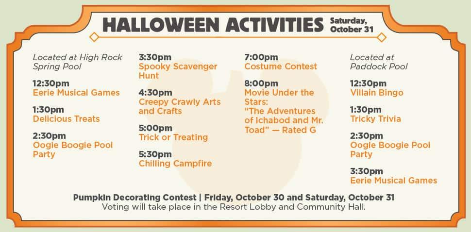 Halloween 2015 Saratoga Springs Resort