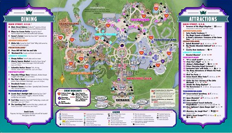 Mickeys Not So Scary Halloween Party Map 2015