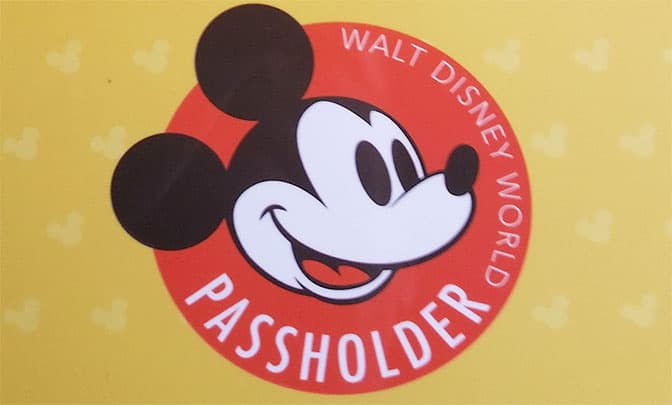 Walt Disney World Annual Pass design 2015