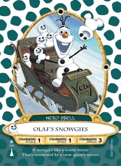 Olaf's Snowgies Sorcerers of the Magic Kingdom Card for Mickey's Very Merry Christmas Party