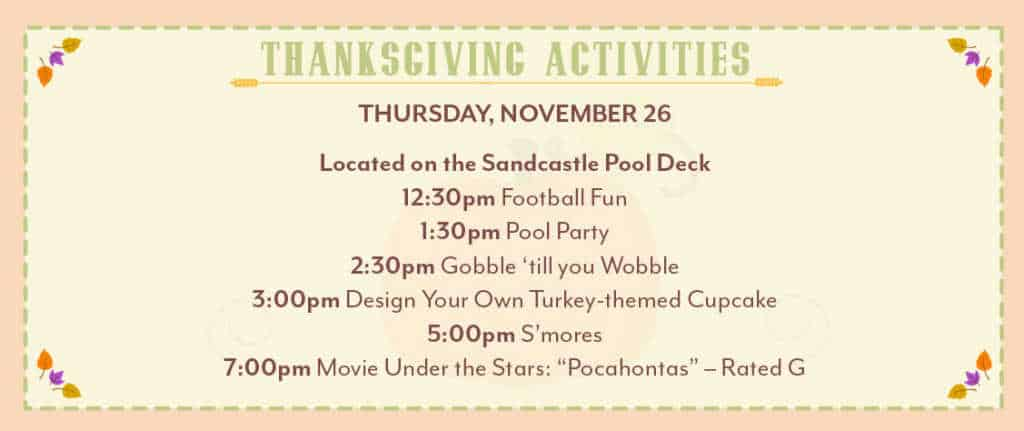 thanksgiving activities at Disney World Old Key West Resort