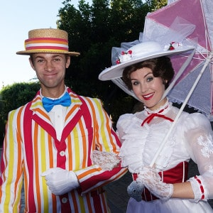 Bert and Mary Poppins at Disneyland 2015