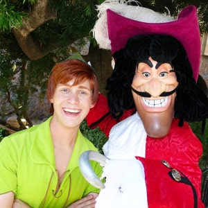Peter Pan and Capt Hook at Disneyland Fantasyland 2015