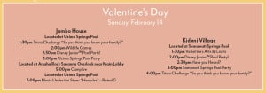 Animal Kingdom Lodge Valentines Activities
