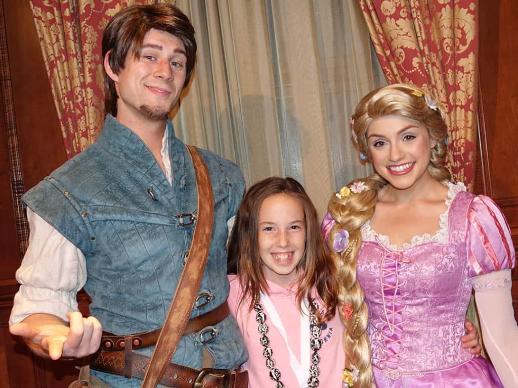 DVC 25th Anniversary Party at Magic Kingdom in Disney World Flynn Rider & Rapunzel #dvc25
