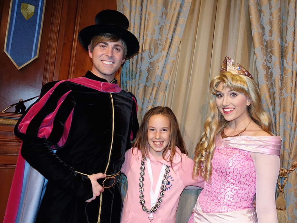 DVC 25th Anniversary Party at Magic Kingdom in Disney World Prince Phillip & Aurora #dvc25