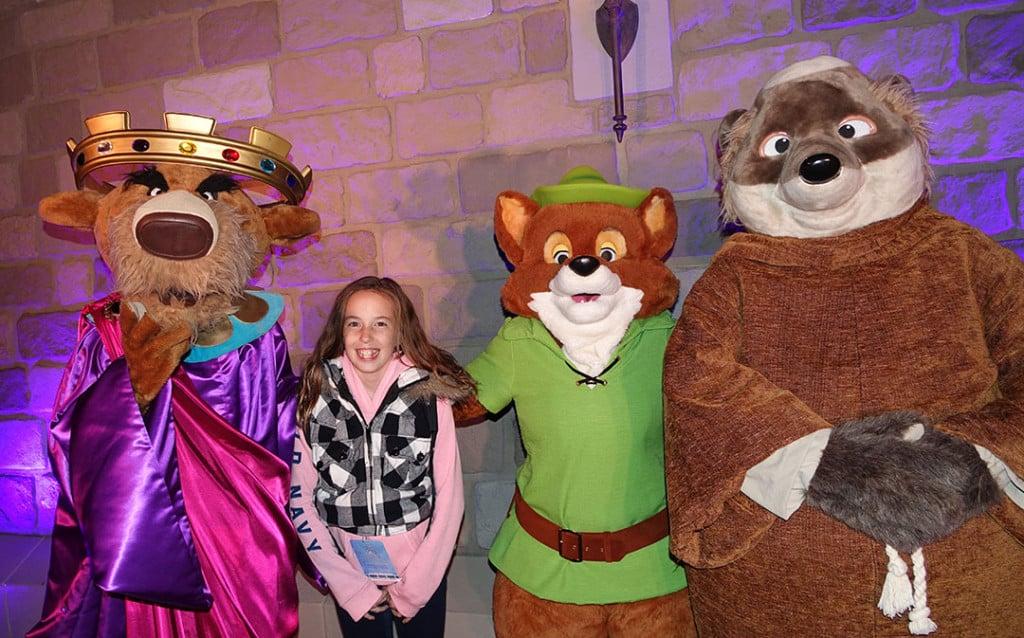 DVC 25th Anniversary Party at Magic Kingdom in Disney World Prince John, Friar & Robin Hood #dvc25