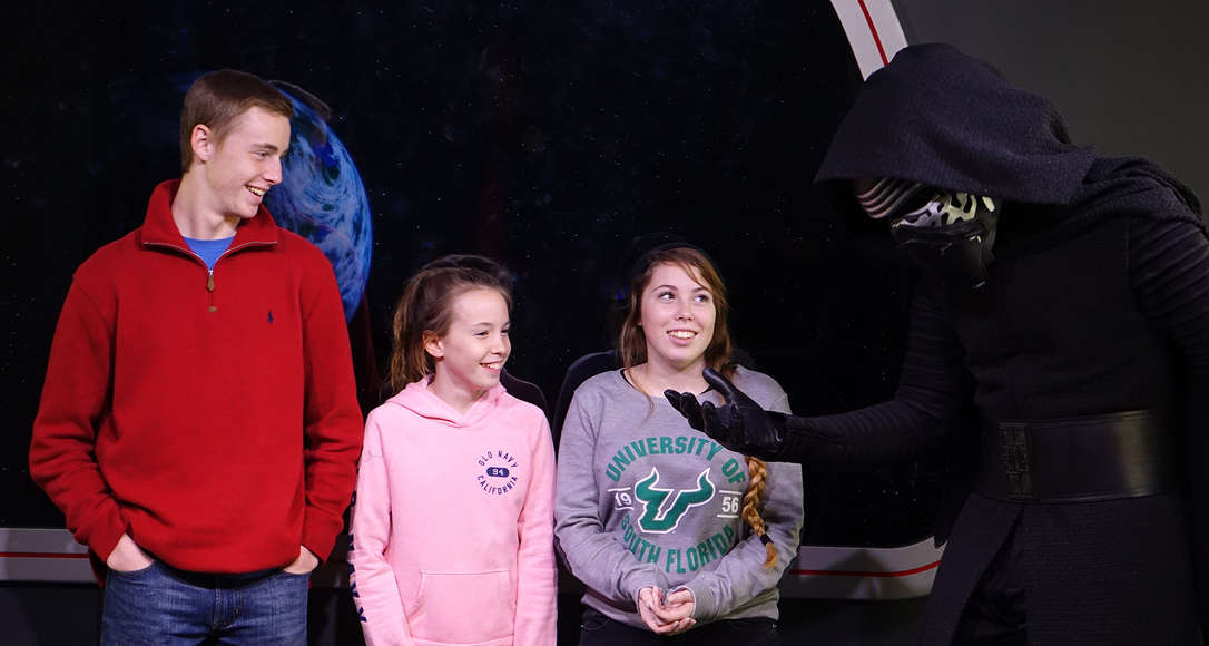 Star Wars Launch Bay Kylo Ren meet and greet