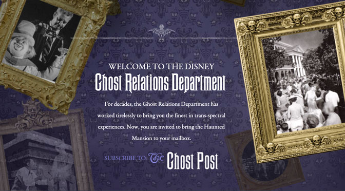 Haunted Mansion Ghost Relations Department presents the Ghost Post