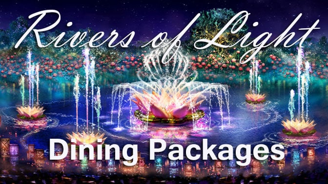 Rivers of Light Dining Package information
