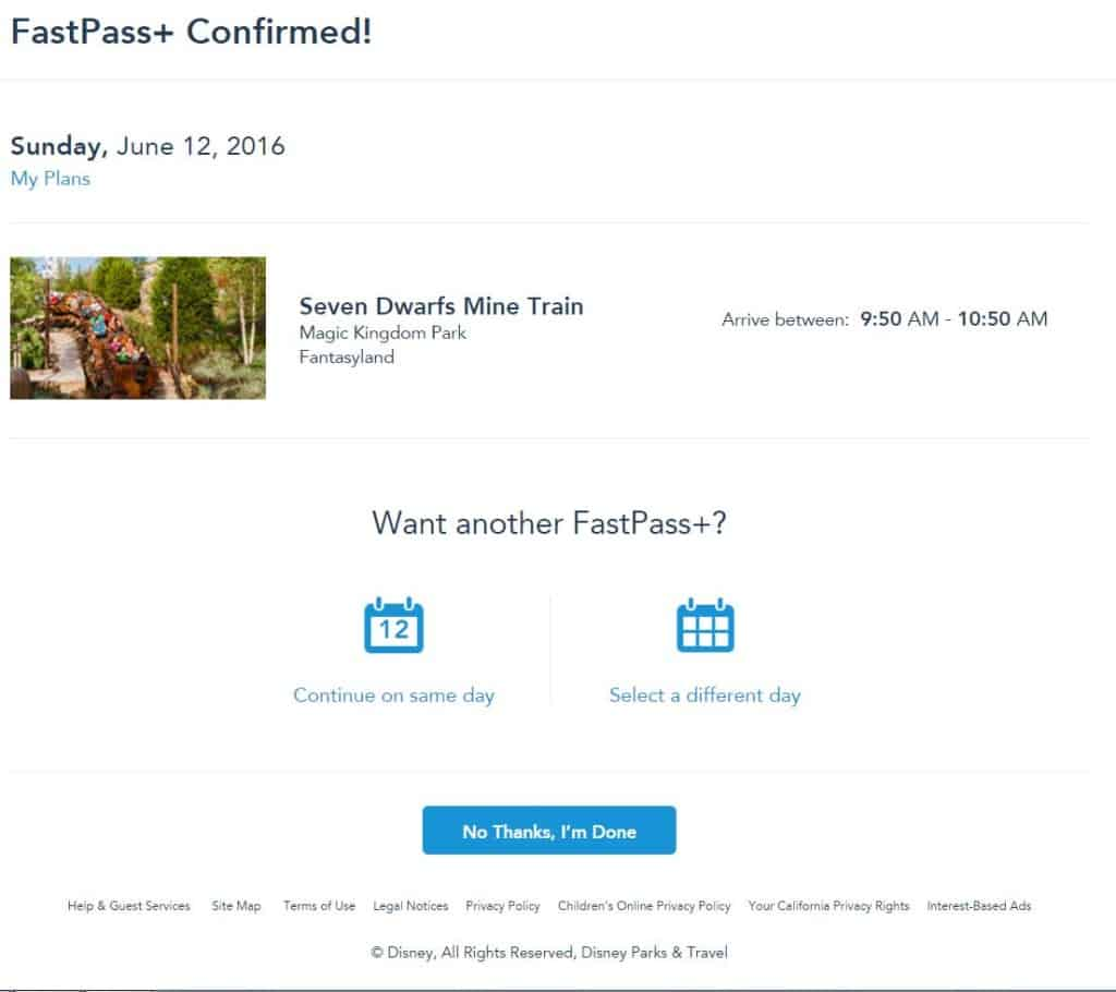 Changes made to Fastpass+ booking system at Walt Disney World