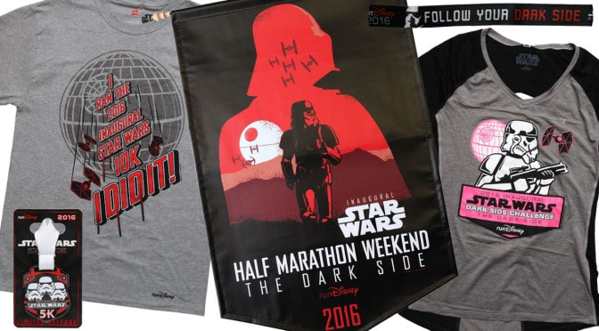 Star Wars Half Marathon – The Dark Side merchandise released
