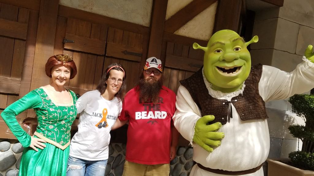 Universal Orlando Character Day with Ryan and Heather April 2016 (26) Fiona and Shrek