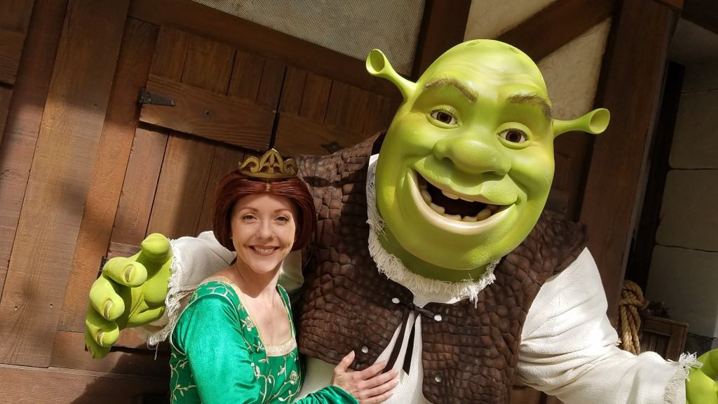 Universal Orlando Character Day with Ryan and Heather April 2016 (27) Fiona and Shrek
