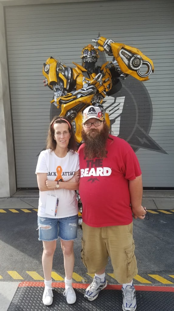 Universal Orlando Character Day with Ryan and Heather April 2016 (3) Bumblebee