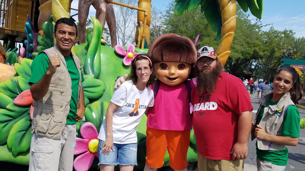Universal Orlando Character Day with Ryan and Heather April 2016 (32) Dora