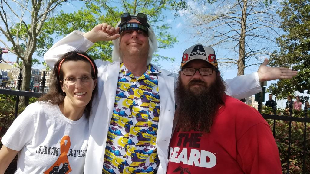 Universal Orlando Character Day with Ryan and Heather April 2016 (38) Doc Brown