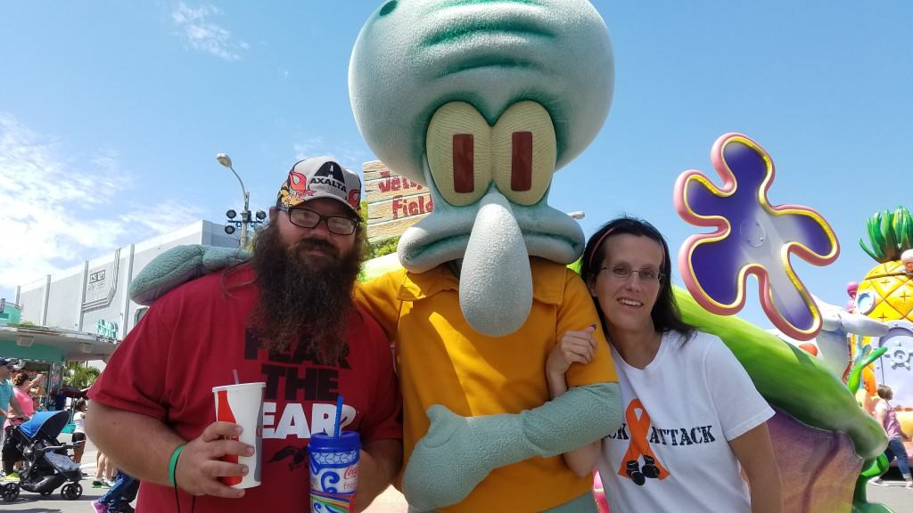 Universal Orlando Character Day with Ryan and Heather April 2016 (45) Squidward