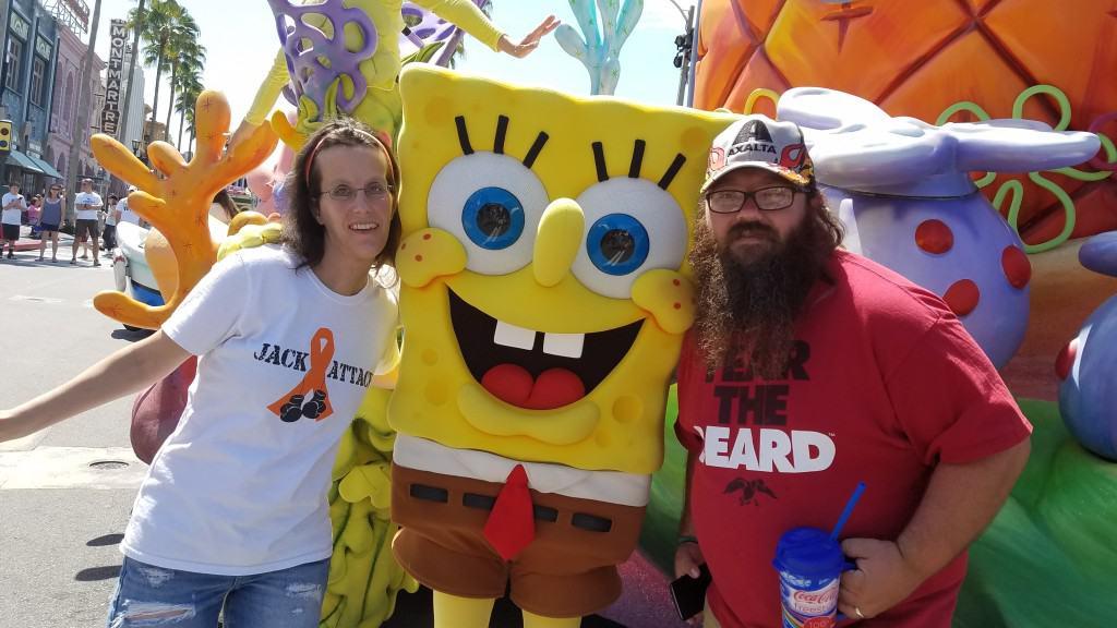 Universal Orlando Character Day with Ryan and Heather April 2016 (46) Spongebob Squarepants