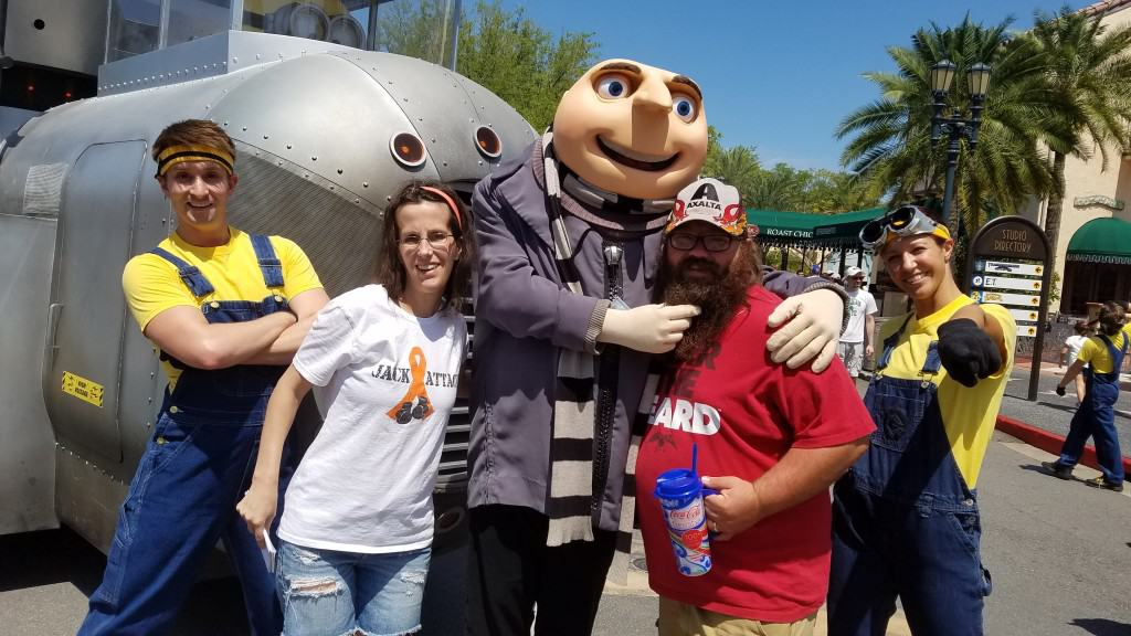 Universal Orlando Character Day with Ryan and Heather April 2016 (47) Gru