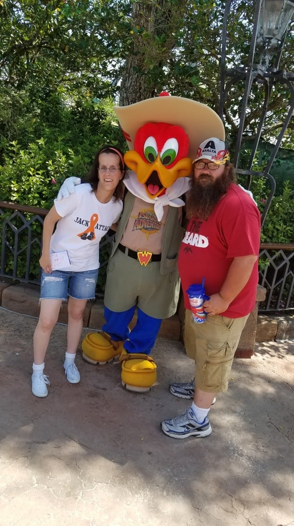 Universal Orlando Character Day with Ryan and Heather April 2016 (57) Woody Woodpecker