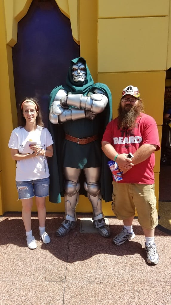 Universal Orlando Character Day with Ryan and Heather April 2016 (58) Dr Doom