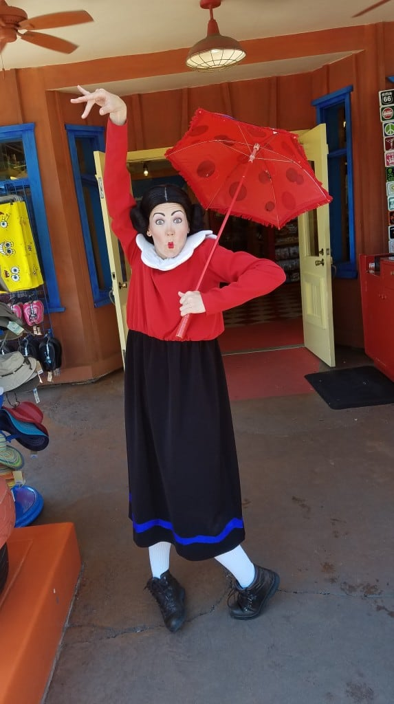 Universal Orlando Character Day with Ryan and Heather April 2016 (63) Olive Oyl