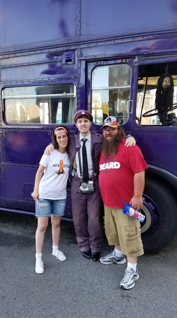 Universal Orlando Character Day with Ryan and Heather April 2016 (78) Knight Bus Driver