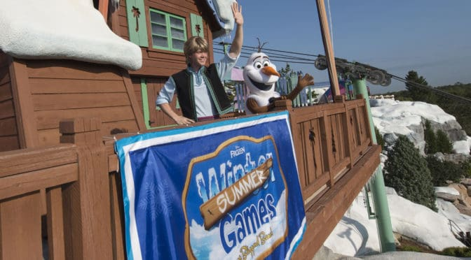 """Olaf and Kristoff are almost ready for the """"Frozen games"""""""